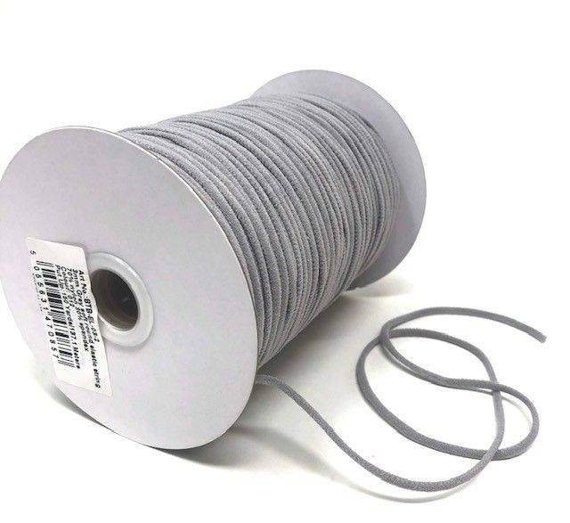 3mm Soft Round Elastic Grey