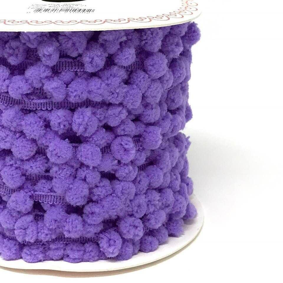 Pom-Pom Trim 15mm Purple