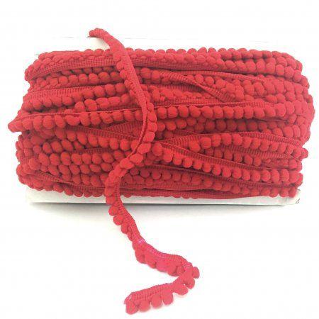 Mini Pom-Poms Red