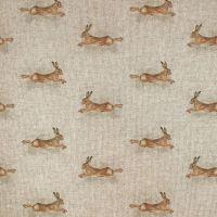 Pop Art Linen Look Cotton Canvas Fabric Hare
