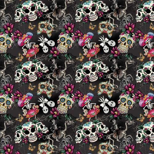 Cotton Fabric Day Of The Dead