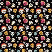 Cotton Fabric Skulls