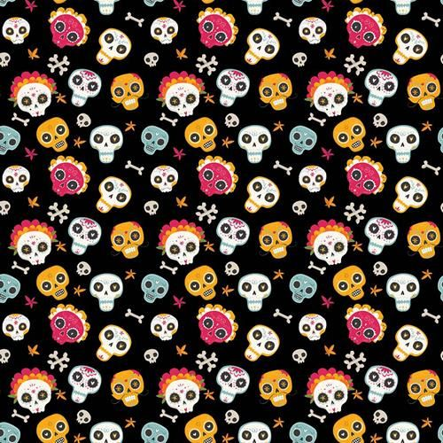 Cotton Fabric Skulls