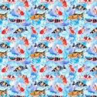 Cotton Fabric Sealife Fish
