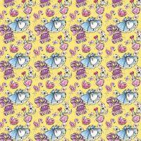 Cotton Fabric Alice In Wonderland Yellow