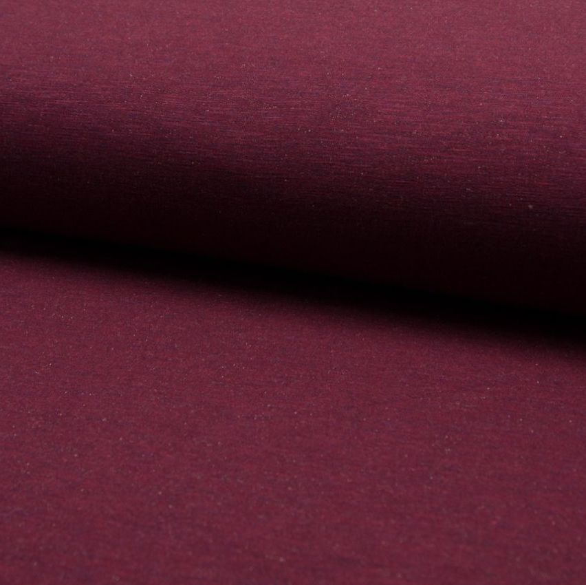 Jogging Melange Jersey Knit Fabric Wine