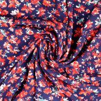 Viscose Fabric Flowers Navy