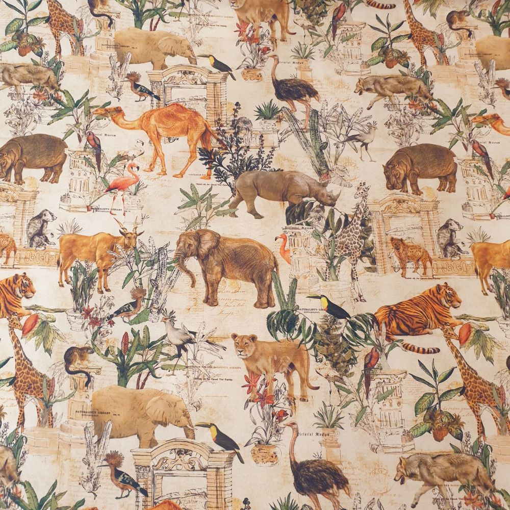 Mowgli Allover Print Cotton Fabric