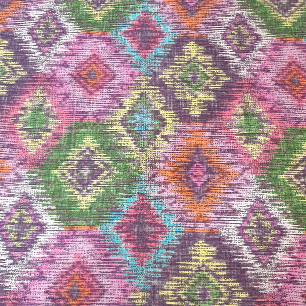 Aztec Allover Print Cotton Fabric