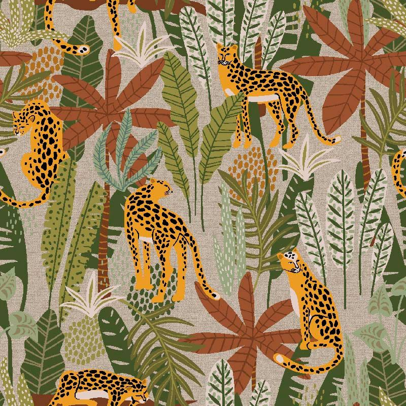 Selva Cotton Fabric Leopard