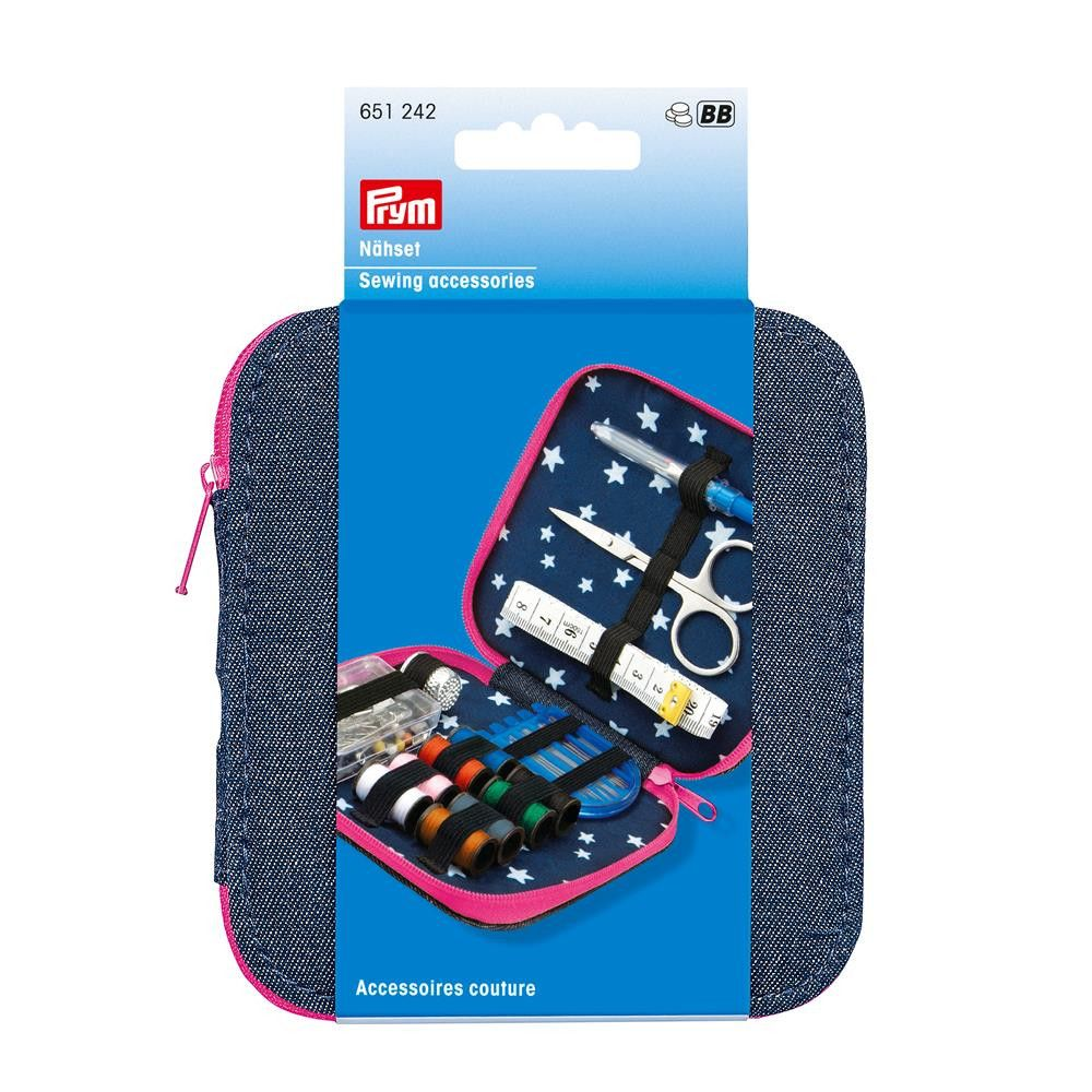 Prym Denim Sewing Kit Pink