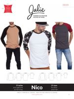 Jalie Nico 3669 Boys & Men Raglan Tee