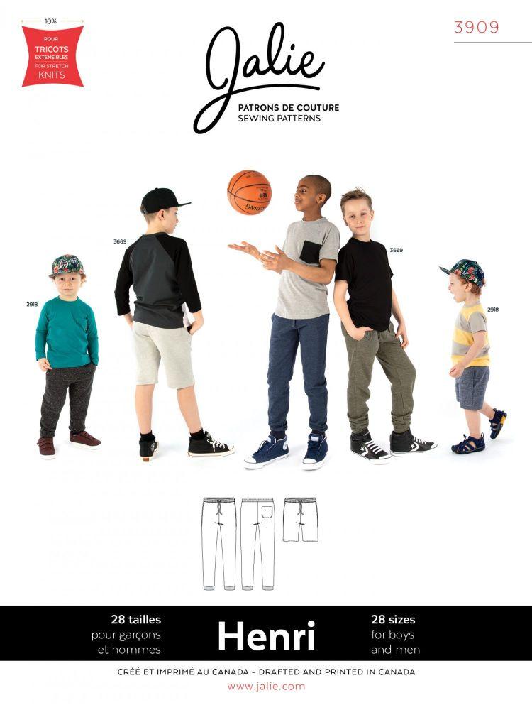 Jalie Henri 3909 Boys & Men Joggers and Shorts