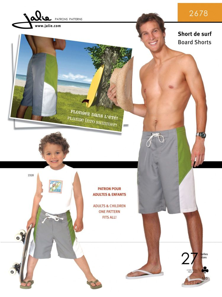 Jalie Board Shorts for Boys & Men