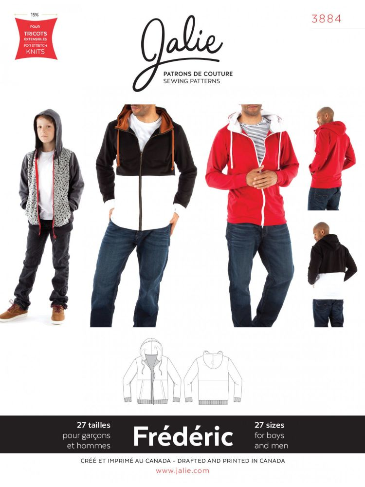 Jalie Frederic 3884 Hoody Jacket Boys and Men
