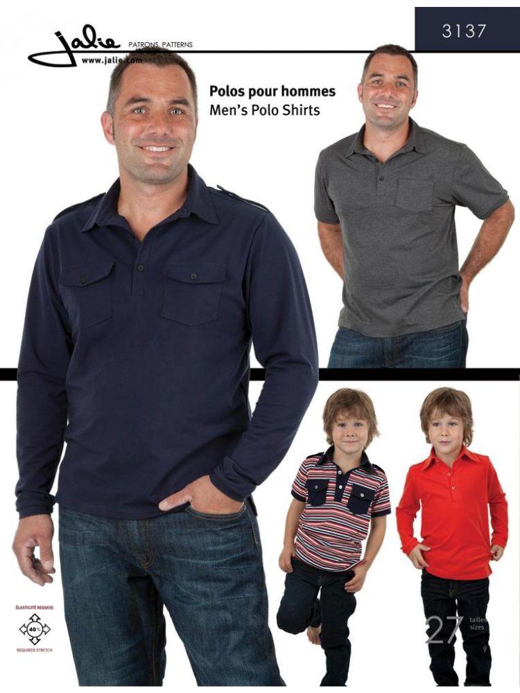 Jalie 3137 Men's Polo Shirt Pattern for Boys and Men