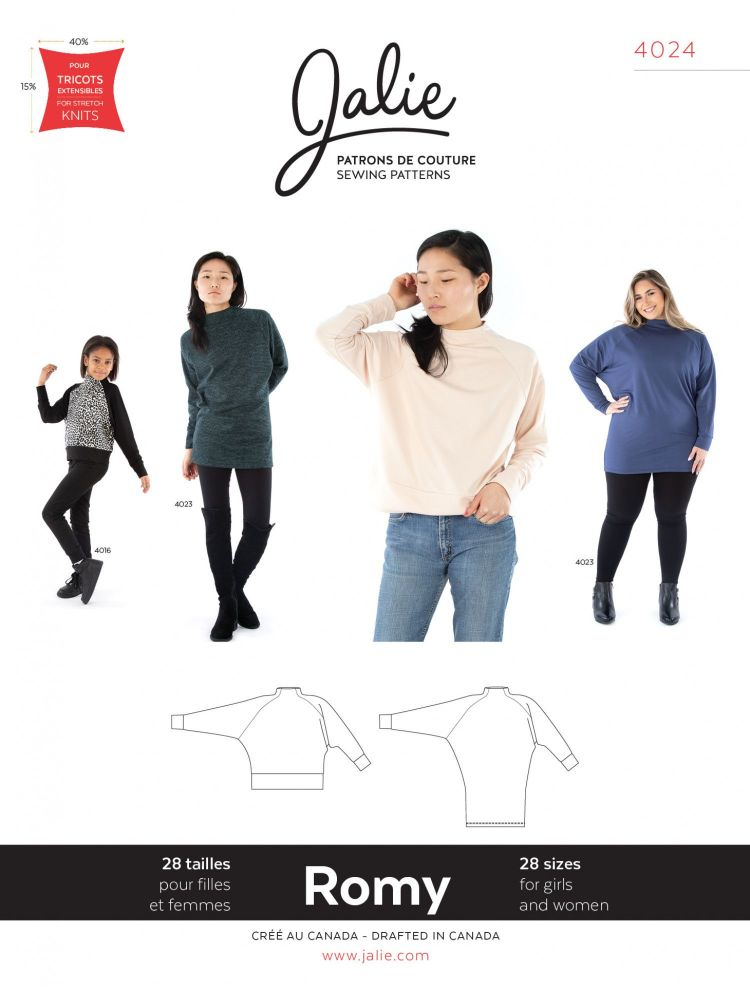 Jalie 4024 Romy Sweater And Tunic For Girls And Women