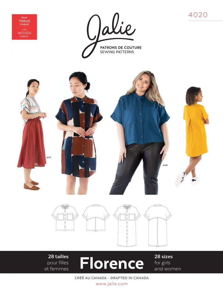 Jalie 4020 Florence Shirt And Shirtdress For Girls And Women