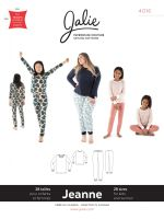 Jalie 4016 Jeanne Knit Pyjama Set For Girls And Women