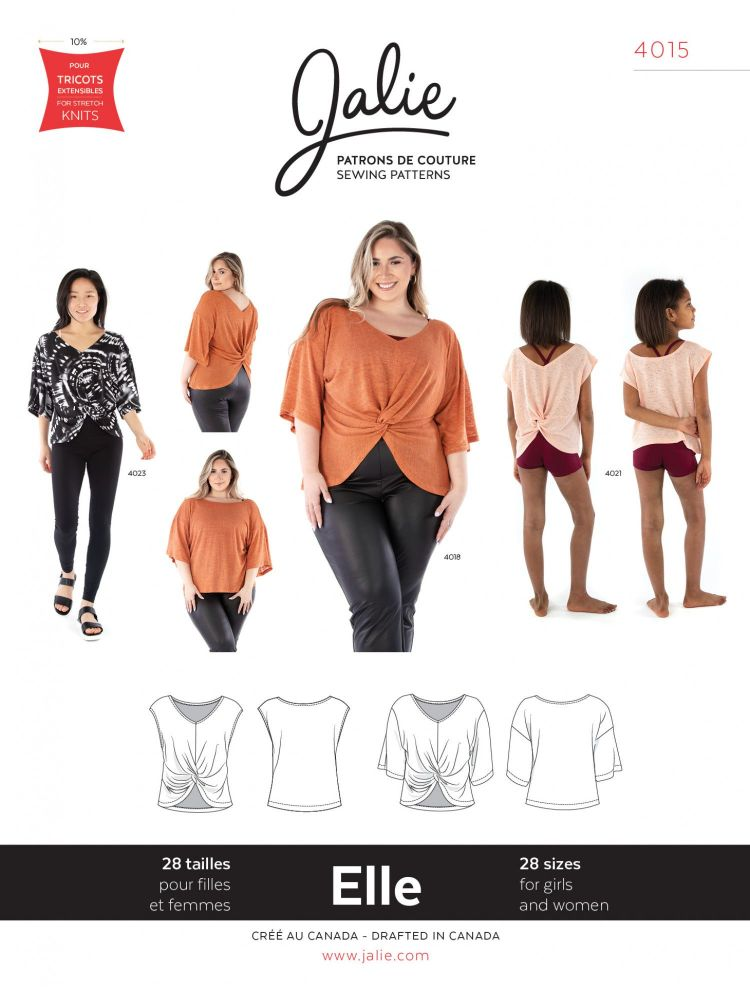 Jalie 4015 Elle Reversible Top For Girls And Women