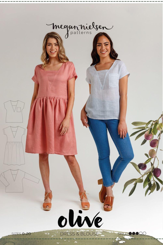 Megan Nielsen Olive Dress & Top