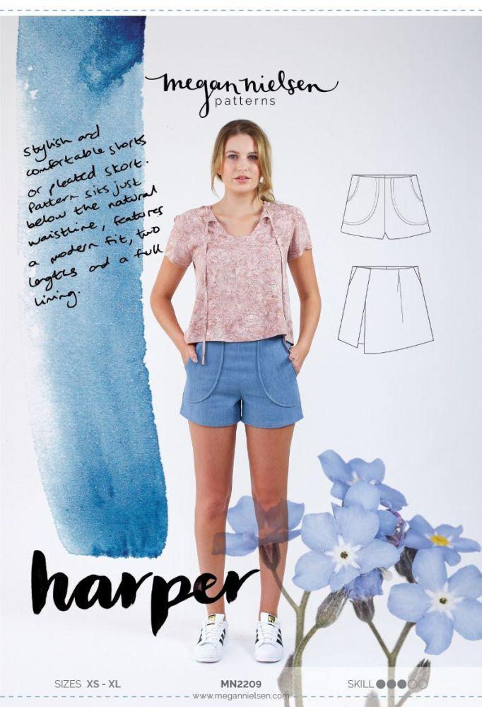 Megan Nielsen Harper Shorts & Skort Sewing Pattern