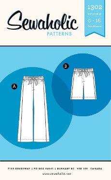 Sewaholic Sewing Pattern 1302 Tofino Pants