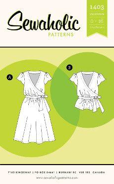 Sewaholic Sewing Pattern 1403 Yaletown Dress & Blouse