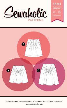 Sewaholic Sewing Pattern 1101 Crescent Skirt Pattern