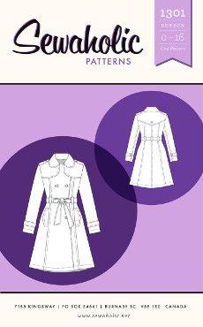 Sewaholic Sewing Pattern 1301 Robson Coat Pattern