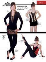Jalie 2920 Leggings, Stirrup Tights & Mini Skirt Pattern For Girls and Women