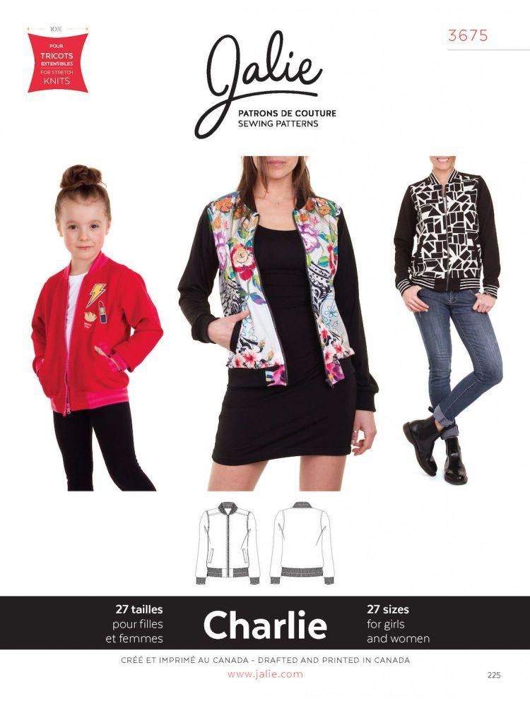 Jalie 3675 Charlie Bomber Jacket For Girls And Women