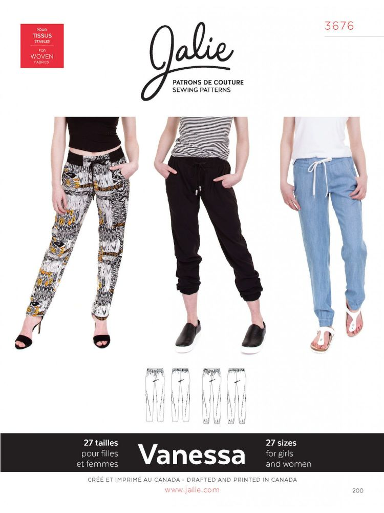Jalie 3676 Vanessa Pants For Girls and Women