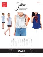 Jalie 3881 Rose Sleeveless Button Down Shirt For Girls and Women