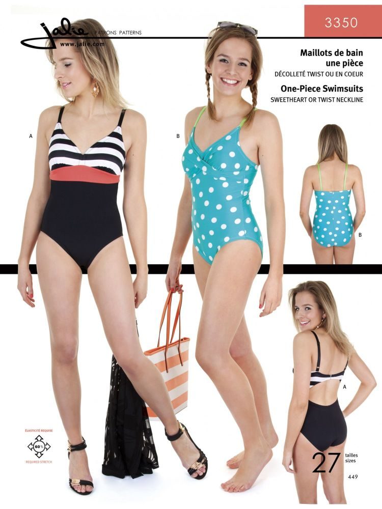 Jalie 3350 One Piece Swimsuit For Girls and Women