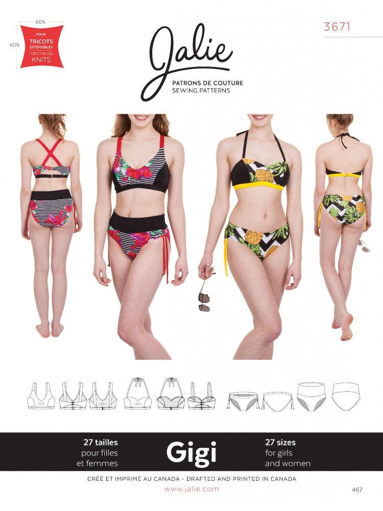 Jalie 3671Gigi Bikinis For Girls and Women