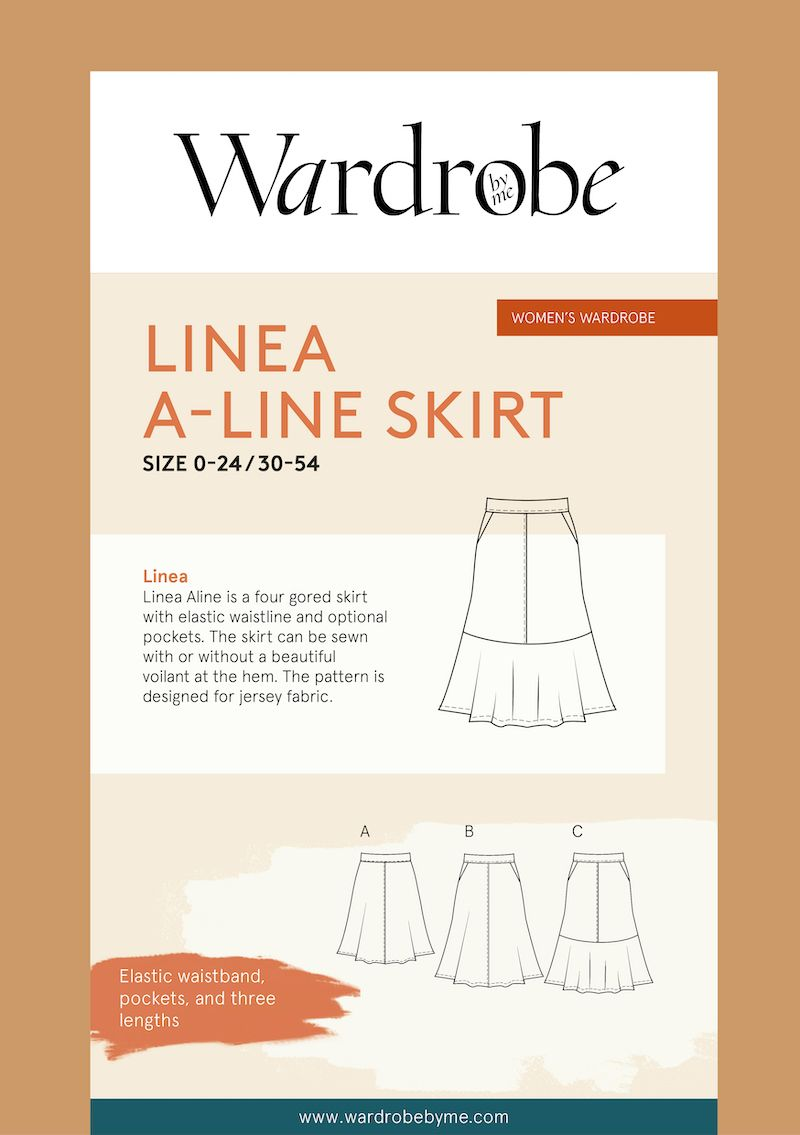 Wardrobe By Me Linea A-Line Skirt Sewing Pattern