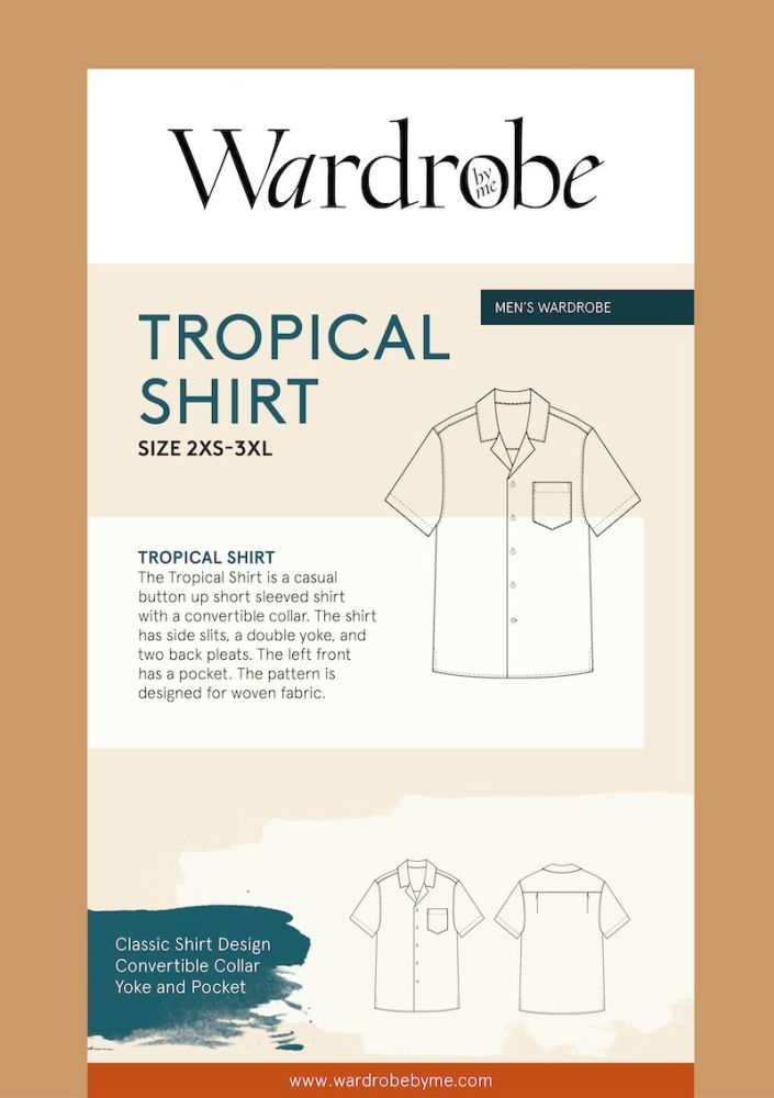 Wardrobe By Me Tropical Shirt For Men Sewing Pattern