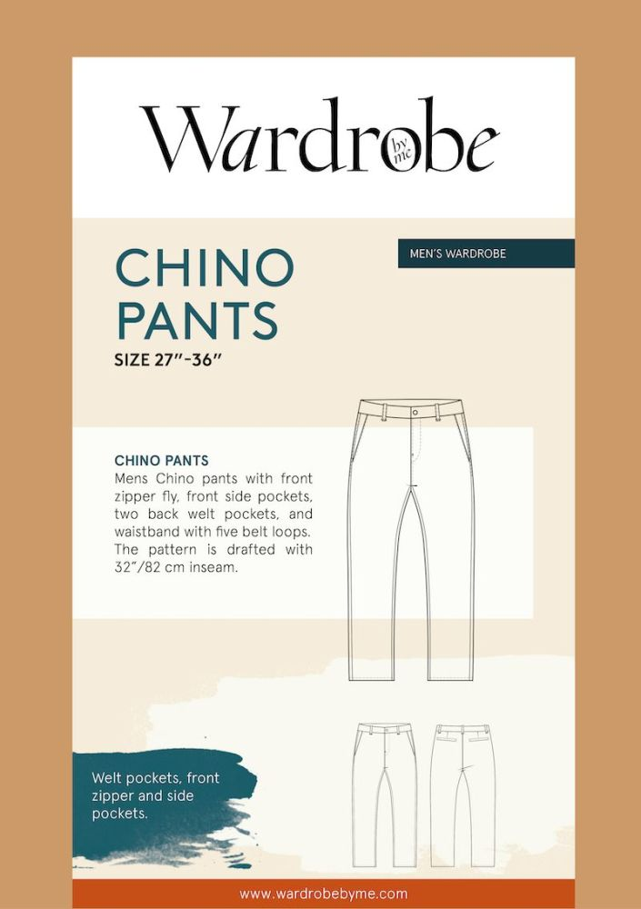 Wardrobe By Me Chino Pants For Men Sewing Pattern