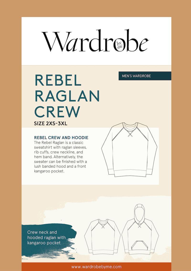 Wardrobe By Me Rebel Raglan Sweater For Men Sewing Pattern