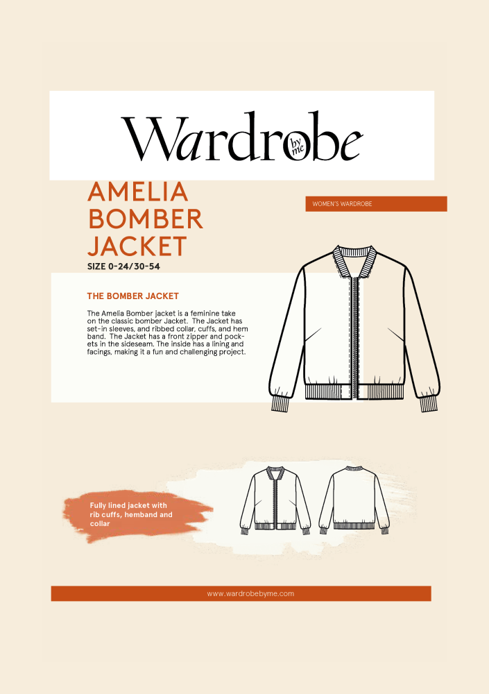 Wardrobe By Me Amelia Bomber Jacket Sewing Pattern