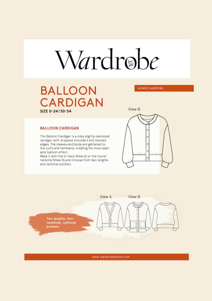 Wardrobe By Me Balloon Cardigan Sewing Pattern