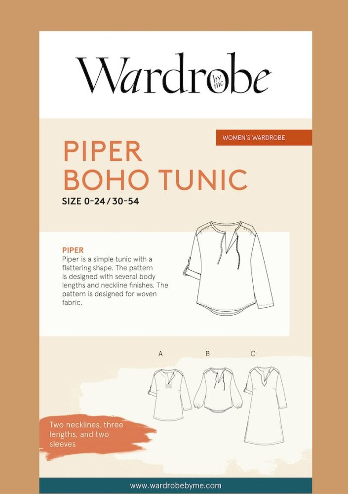 Wardrobe By Me Piper Boho Tunic Sewing Pattern