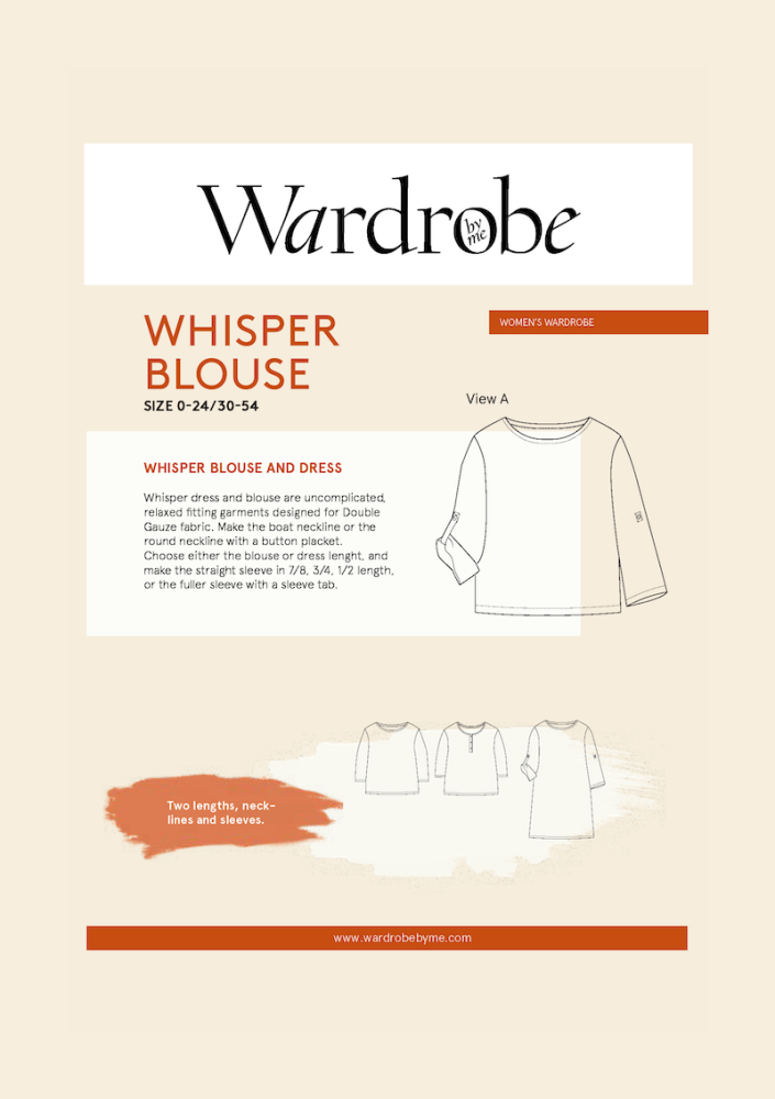 Wardrobe By Me Whisper Blouse Sewing Pattern