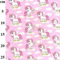 Cotton Poplin Unicorn Pink