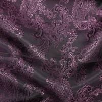 Paisley Jacquard Dress Lining Fabric Purple/Pink