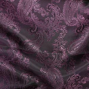 Paisley Jacquard Dress Lining Fabric Purple/Pink