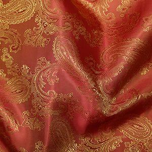 Paisley Jacquard Dress Lining Fabric Burnt Orange