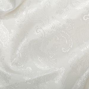 Paisley Jacquard Dress Lining Fabric Off White