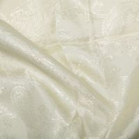 Paisley Jacquard Dress Lining Fabric Ivory